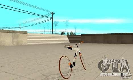 Nulla 2009 Mt Bike para GTA San Andreas traseira esquerda vista