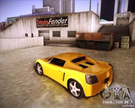Opel Speedster para GTA San Andreas esquerda vista