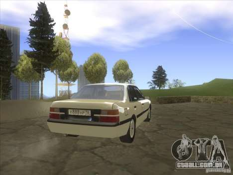 Mazda 626 DC 1986 para GTA San Andreas traseira esquerda vista