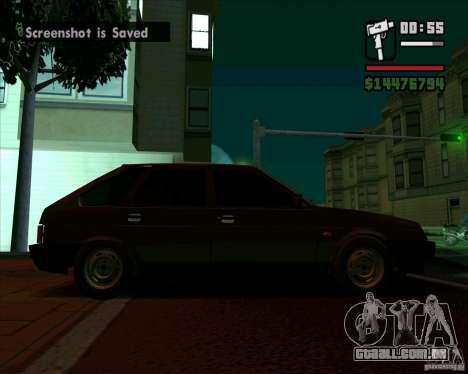 VAZ 2109 05 Final para GTA San Andreas traseira esquerda vista