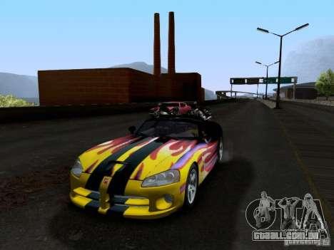 Dodge Viper SRT-10 Custom para GTA San Andreas vista superior