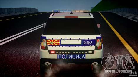 Range Rover Macedonian Police [ELS] para GTA 4 motor