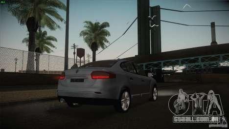 Renault Fluence para GTA San Andreas vista superior