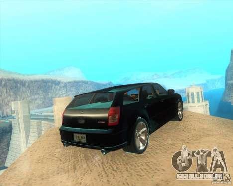 Dodge Magnum RT 2008 v.2.0 para GTA San Andreas traseira esquerda vista