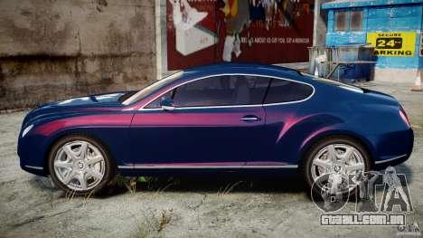 Bentley Continental GT v2.0 para GTA 4 esquerda vista