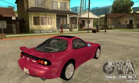 Mazda RX-7 para GTA San Andreas vista direita
