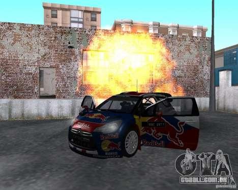 Citroen DS3 WRC para GTA San Andreas vista traseira