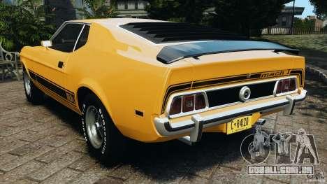 Ford Mustang Mach 1 1973 para GTA 4 traseira esquerda vista