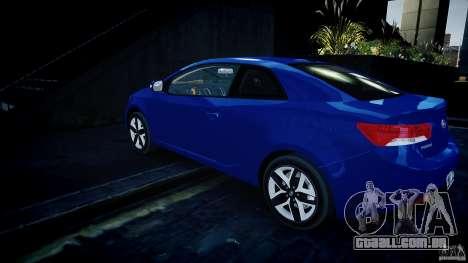 KIA Forte Koup para GTA 4 traseira esquerda vista