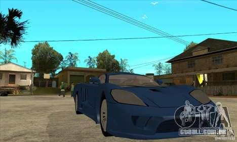 Saleen S7 v1.0 para GTA San Andreas vista traseira