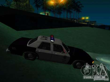Ford Crown Victoria LTD 1992 SFPD para GTA San Andreas vista direita