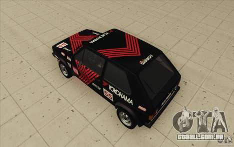 Volkswagen Golf Mk1 - Stock para GTA San Andreas interior