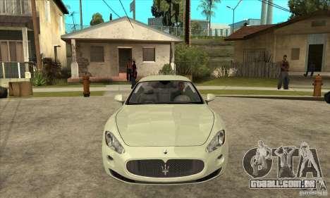 Maserati Gran Turismo 2008 para GTA San Andreas vista traseira