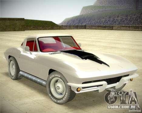 Chevrolet Corvette Stingray para GTA San Andreas vista direita