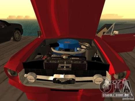 Ford Mustang 67 Custom para GTA San Andreas traseira esquerda vista