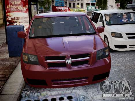 Dodge Grand Caravan SXT 2008 para GTA 4 vista de volta