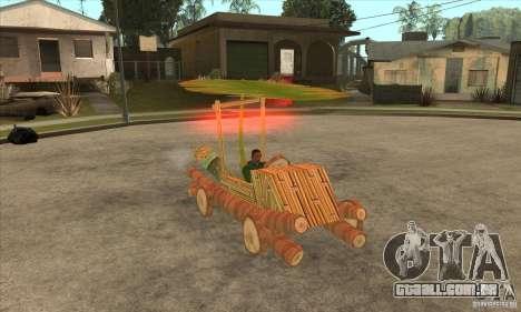 New Police Madagascar para GTA San Andreas vista traseira