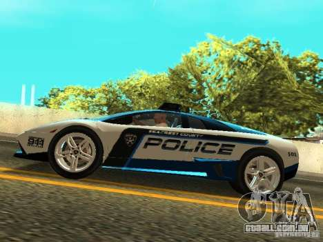 Lamborghini Murcielago LP640 Police V1.0 para GTA San Andreas vista direita