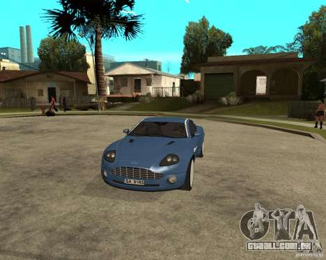 Aston Martin Vanquish para GTA San Andreas vista interior