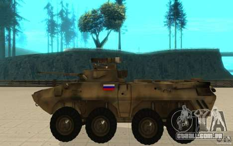 BTR-90 para GTA San Andreas esquerda vista
