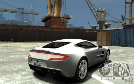 Aston Martin One 77 para GTA 4 vista direita