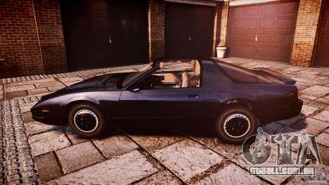 KITT Knight Rider para GTA 4 esquerda vista