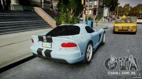 Dodge Viper SRT-10 para GTA 4 vista lateral