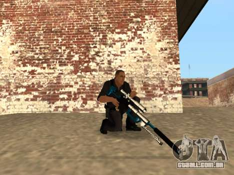 Chrome and Blue Weapons Pack para GTA San Andreas décimo tela