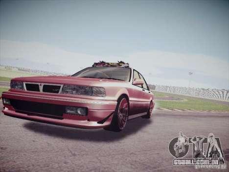 Mitsubishi Galant 1992 JDM para GTA San Andreas traseira esquerda vista