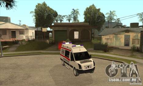 Volkswagen Crafter Ambulance para GTA San Andreas vista traseira