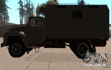 ZIL 130 rádio Butka para GTA San Andreas esquerda vista