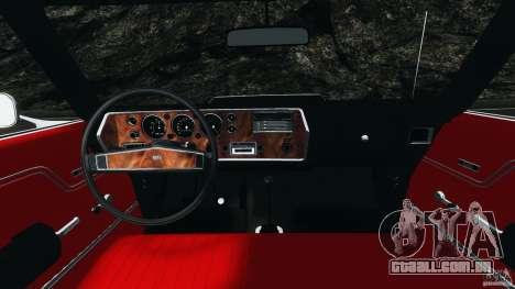 Chevrolet Chevelle SS 1970 v1.0 para GTA 4 vista de volta