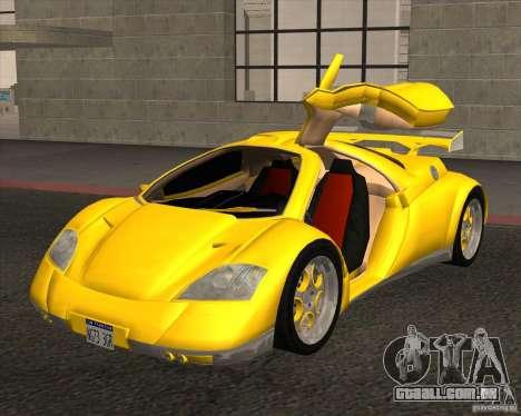 Conceptcar Nimble para GTA San Andreas traseira esquerda vista