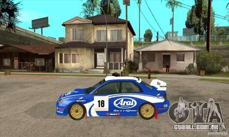Subaru Impreza STi WRC wht1 para GTA San Andreas traseira esquerda vista