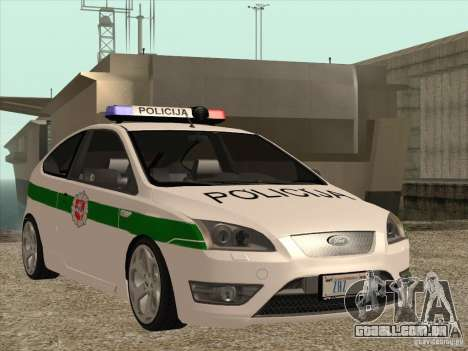 Ford Focus ST Policija para GTA San Andreas vista interior