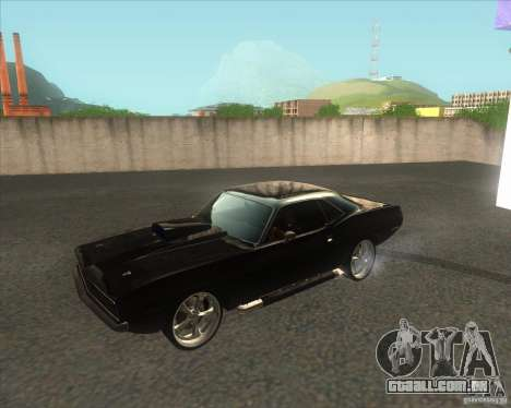 Plymouth Barracuda para GTA San Andreas esquerda vista