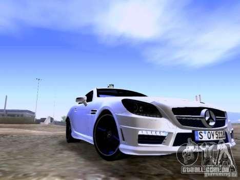 Mercedes-Benz SLK55 AMG 2012 para GTA San Andreas traseira esquerda vista