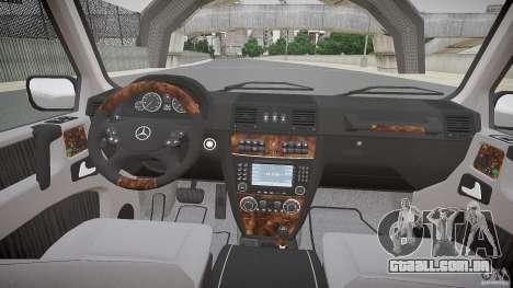 Mercedes Benz G500 (W463) 2008 para GTA 4 vista de volta