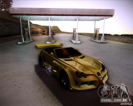 Mercedes-Benz SLR-Mclaren 722 Cabrio Tuned para GTA San Andreas traseira esquerda vista