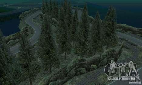 A rota do rali para GTA San Andreas oitavo tela