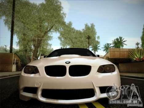 BMW E92 v2 Updated para GTA San Andreas vista traseira