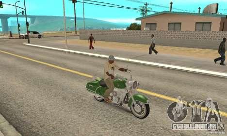 Harley Davidson Road King para GTA San Andreas vista direita