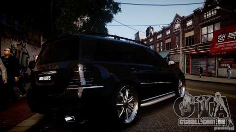 Mercedes-Benz GL450 Brabus Black Edition para GTA 4 vista direita