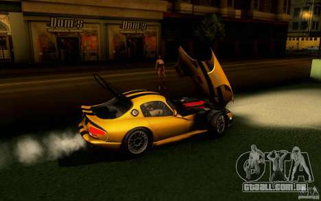 Dodge Viper GTS Coupe TT Black Revel para GTA San Andreas traseira esquerda vista