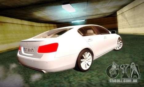 Lexus GS430 para GTA San Andreas esquerda vista