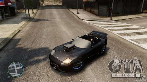 Blue Neon Banshee para GTA 4 vista de volta