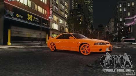 Nissan Skyline R33 GTR V-Spec para GTA 4 vista de volta
