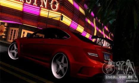 Mercedes Benz C63 AMG para GTA San Andreas vista interior