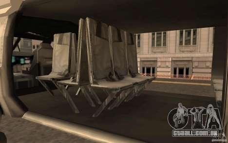 Black Hawk from BO2 para GTA San Andreas vista direita