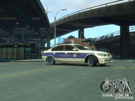 BMW 320i Police para GTA 4 esquerda vista